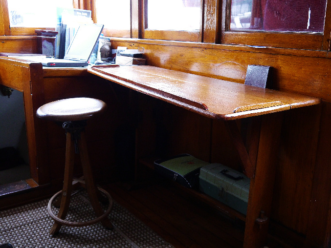 Just the right table for this boat.
